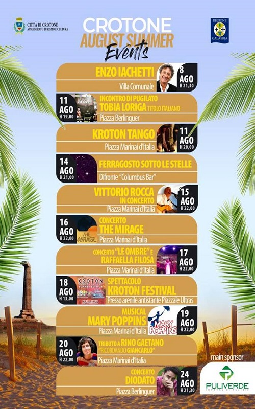 Crotone August Summer Events
